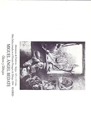 OLEOS Y DIBUJOS (Folleto con datos biografiscos y obras): Miguel Angel Bedate