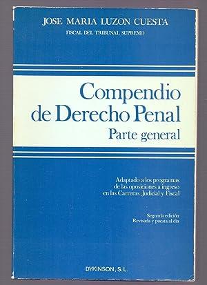 COMPEDIO DE DERECHO PENAL - PARTE GENERAL: Jose Maria Luzon