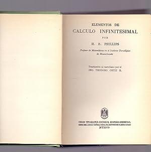 ELEMENTOS DE CALCULO INFINITESIMAL: H. B. Phillips