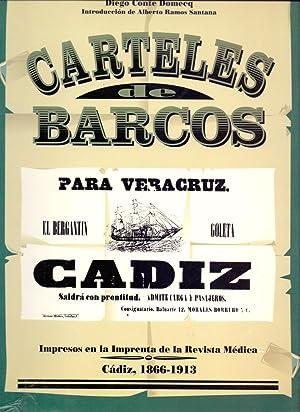 CARTELES DE BARCOS (Impresos en la imprenta de la revista medica, Cadiz 1866-1913): Diego Conte ...