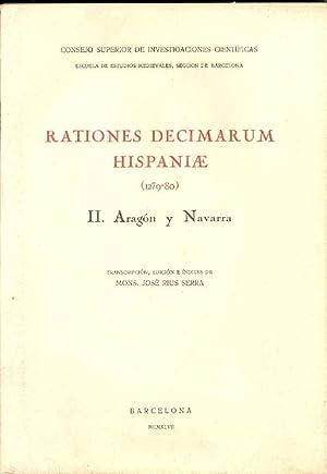 RATIONES DECIMARUM HISPANIAE, (1279-80), II, ARAGON Y: Mons. Jose Rius