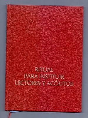PONTIFICAL ROMANO - RITUAL PARA INSTITUIR LECTORES: Comision Episcopal Española