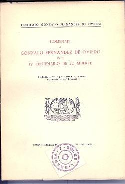 HOMENAJE A GONZALO FERNANDEZ DE OVIEDO EN: Juan Perez, Manuel