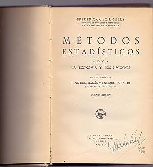 METODOS ESTADISTICOS APLICADOS A LA ECONOMIA Y: Frederick Cecil Mills