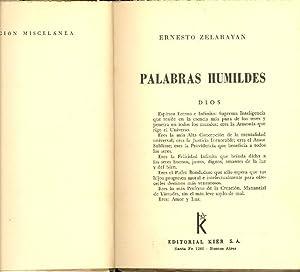PALABRAS HUMILDES: Ernesto Zelarayan