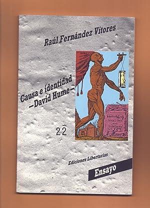 CAUSA E IDENTIDAD - DAVID HUME: Raul Fernández Vitores