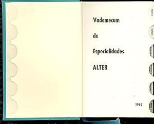 VADEMECUM DE ESPECIALIDADES ALTER- 1962 -: Alter