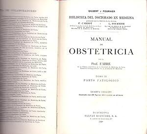 MANUAL DE OBSTETRICIA - TOMO II ,: Prof. Fabre