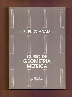 CURSO DE GEOMETRIA METRICA (TOMO II, COMPLEMENTOS:TRIGONOMETRIA: Pedro Puig Adam