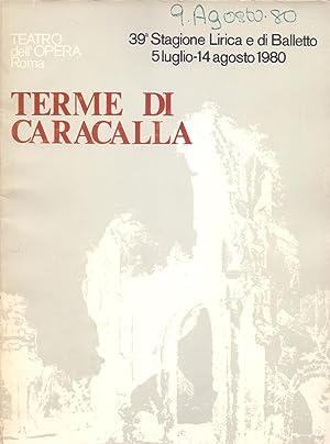 TEATRO DELL OPERA ROMA, 39 STAAGIONE LIRICA: Sovraintendente, Luca Di