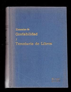 ELEMENTOS DE CONTABILIDAD Y TENEDRIA DE LIBROS: Ediciones Bruño