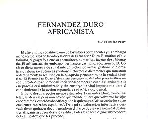 CESAREO FERNANDEZ DURO. AFRICANISTA / 7 PAGINAS: Jose Cervera Pery