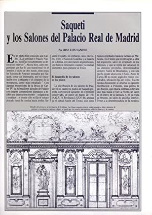 SAQUETI Y LOS SALONES DEL PALACIO REAL: Jose Luis Sancho