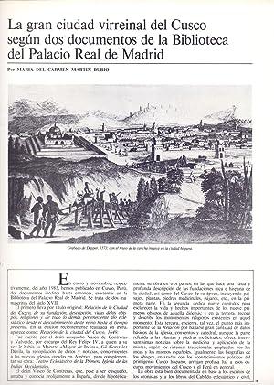 LA GRAN CIUDAD VIRREINAL DEL CUSCO SEGUN: Maria del Carmen