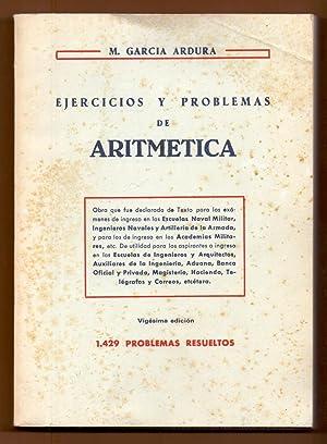 EJERCICIOS Y PROBLEMAS DE ARITMETICA - 1.429: Manuel Garcia Ardura