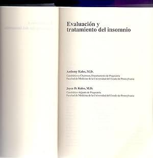 EVALUCACION Y TRATAMIENTO DEL INSOMNIO: Anthony Kalen (Catedratico)