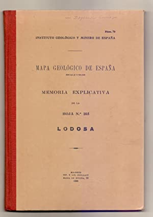LODOSA / MAPA GEOLOGICO DE ESPAÑA ESCALA: Alfonso del Valle
