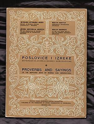 POSLOVICE I IZREKE - SEFARDSKIH jEVREJA bOSNE: Jevrejski Istorijski Muzej