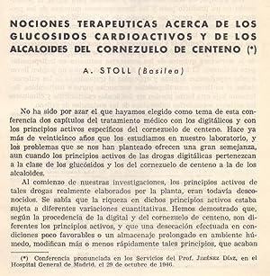 NOCIONES TERAPEUTICAS ACERCA DE LOS GLUCOSIDOS CARDIOACTIVOS Y DE LOS ALCALOIDES DEL CORNEZUELO DE ...