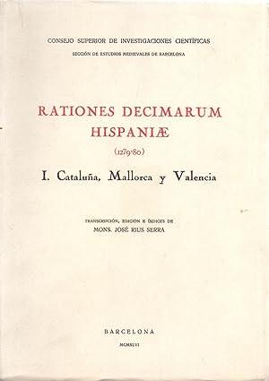 RATIONES DECIMARUM HISPANIAE (1279-80) - TOMO I.: Transcripcion, Edicion e