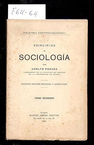 PRINCIPIOS DE SOCIOLOGIA - SEGUNDA EDICION REVISADA,: Adolfo Posada (Catedratico
