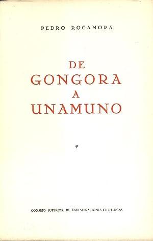DE GONGORA A UNAMUNO: Pedro Rocamora