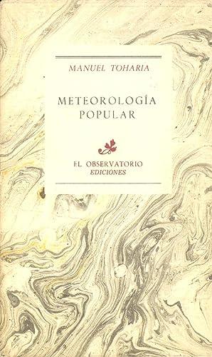 METEOROLOGIA POPULAR: Manuel Toharia
