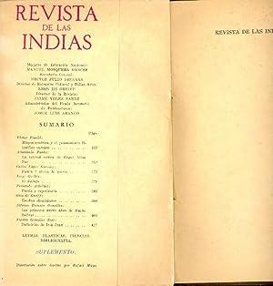 REVISTA DE LAS INDIAS (DICIEMBRE DE 1949): Jorge Guillen (El