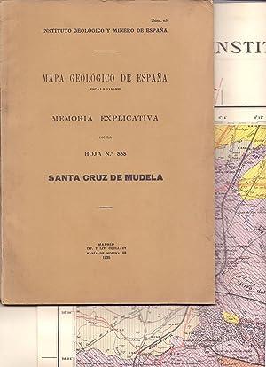 SANTA CRUZ DE MUDELA - MAPA GEOLOGICO DE ESPAÑA - EXPLICACION DE LA HOJA N.º 838, SANTA...