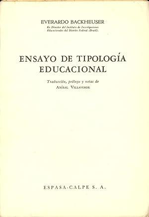 ENSAYO DE TIPOLOGIA EDUCACIONAL: Everardo Backheuser (Traduccion