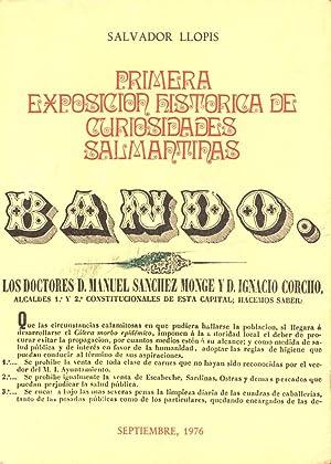 PRIMERA EXPOSICION HISTORICA DE CURIOSIDADES SALMANTINAS: Salvador Llopis
