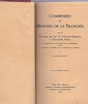 COMPENDIO DE HISTORIA DE LA FILOSOFIA: Anselmo Herranz y Estables