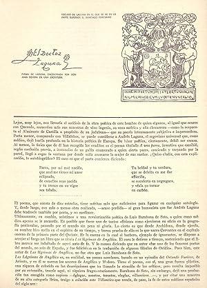 LA APORTACION DE LOS MEDICOS ESCRITORES A: Leopoldo Cortejoso