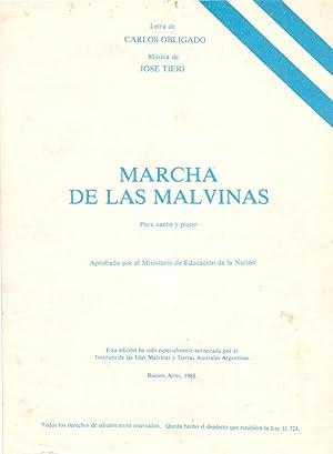 MARCHA DE LAS MALVINAS, Para canto y piano: Carlos Obligado ( Letra ), Jose Tieri ( Musica )