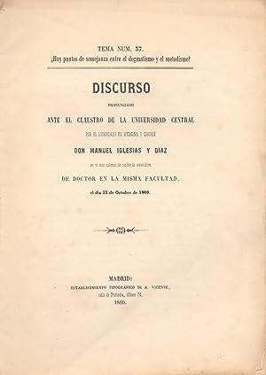 DISCURSOS, Tema num, 37.-¿ Hay puntos de: Manuel Iglesias y