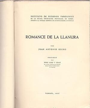 ROMANCE DE LA LLANURA: Juan Antonio Usero