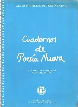 TALLER PROMETEO DE POESIA NUEVA - CUADERNOS DE POESIA NUEVA - EDICION EXTRAORDINARIA CONMEMORATIVA:...