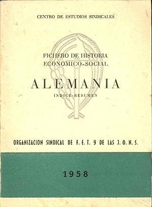 FICHERO DE HISTORIA ECONOMICO-SINDICAL ALEMANIA: Centro de Estudios