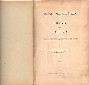 EXAMEN MICROSCOPICO DEL TRIGO Y DE LA HARINA: Fernando Aramburu