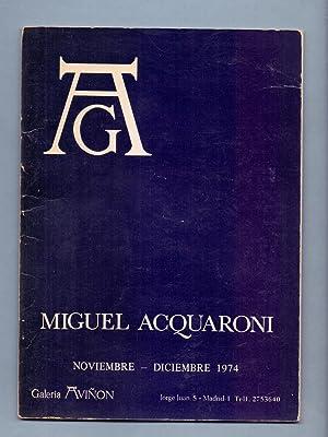 MIGUEL ACQUARONI, FONDO PARA UN RETRATO: Miguel Acquaroni