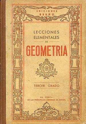 LECCIONES ELEMENTALES DE GEOMETRIA, CON NOCIONES DE: Ediciones Bruño