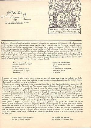 LA APORTACION DE LOS MEDICOS ESCRITORES A: Dr. Leopoldo Cortejoso