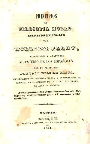 PRINCIPIOS DE FILOSOFIA MORAL Y LOS FUNDAMENTOS: Juan Diaz de