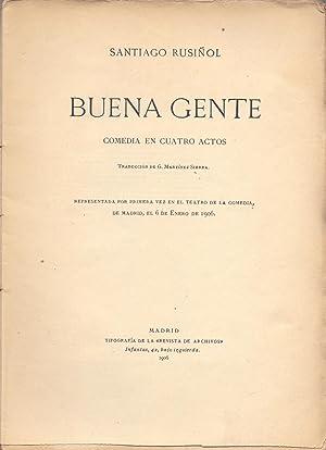 BUENA GENTE: Santiago Rusiñol