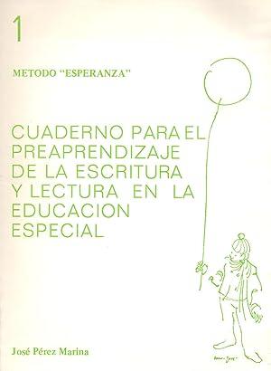 METODO ESPERANZA 1 (Cuaderno para el preaprendizaje de la escritura y lectura en la educacion ...