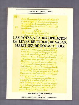 LAS NOTAS A LA RECOPILACION DE LEYES: Concepcion Garcia Gallo