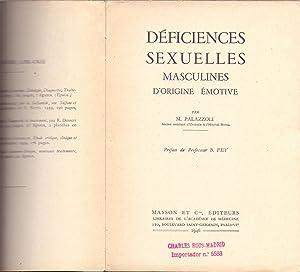 DEFICIENCES SEXUELLES MASCULINES D'ORIGINE EMOTIVE: M. Palazzoli