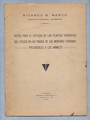 NOTAS PARA EL ESTUDIO DE LAS PLANTAS: Ricardo G. Marco