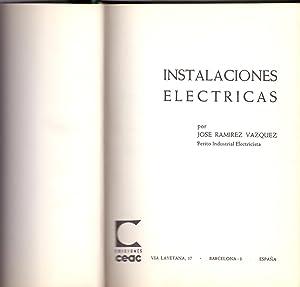 INSTALACIONES ELECTRICAS (I): Jose Ramirez Vazquez