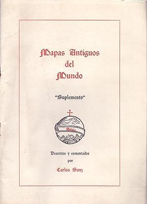 MAPAS ANTIGUOS DEL MUNDO, (SUPLEMENTO): Carlos Sanz